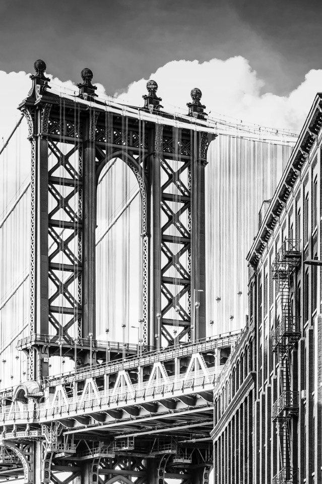 der Fotokünstler New York Manhattan Bridge Bilder Fotos Bild Foto Fotografie Grossformat Grossformatig Gross Leinwand Keilrahmen Leinwanddruck Canvas Alu-Dibond Aludibond Alu Dibond Acrylglas Fotobearbeitung Kunst Kunstwerk Art Kreativ Schwarz Weiß Weiss